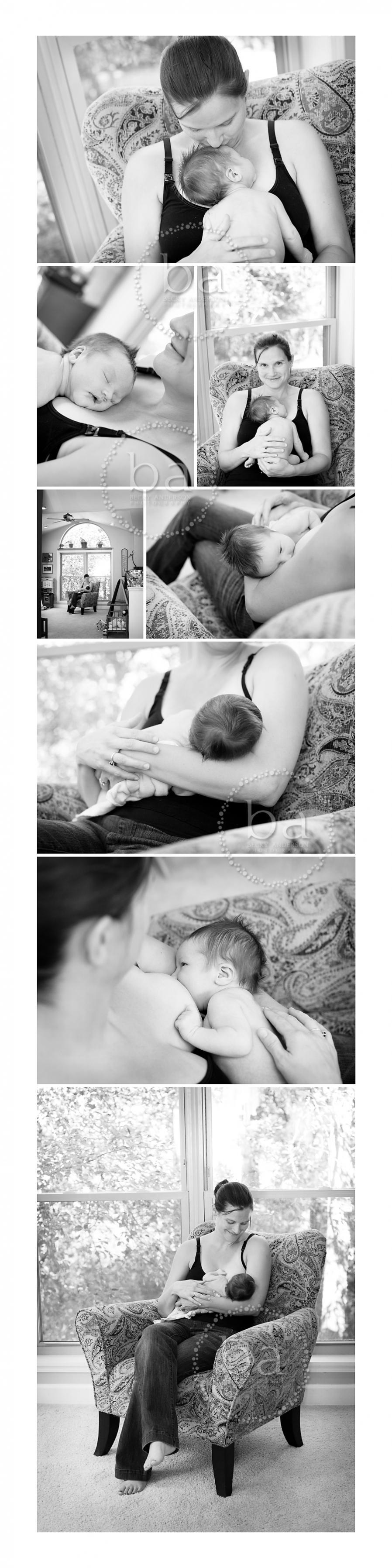 Kalamazoo newborn photography of breastfeeding mom