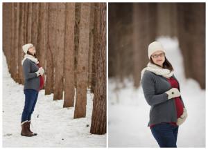winter maternity in kalamazoo, michigan