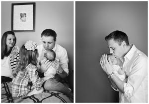 kalamazoo dad and newborn photos