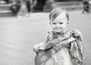 toddler with dress