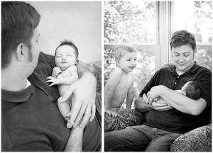 newborn and dad kalamazoo