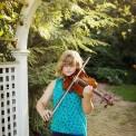 Musician senior photos with viola