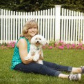 Portage Central Senior girl with dog