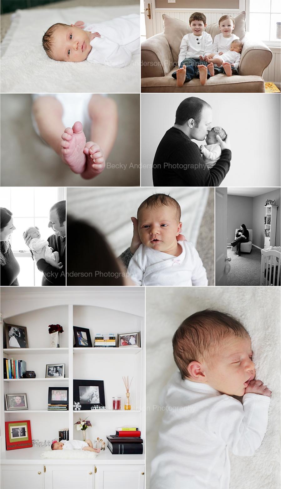 newborn girl lifestyle images in Kalamazoo
