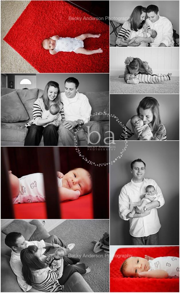 Kalamazoo lifestyle newborn boy with family