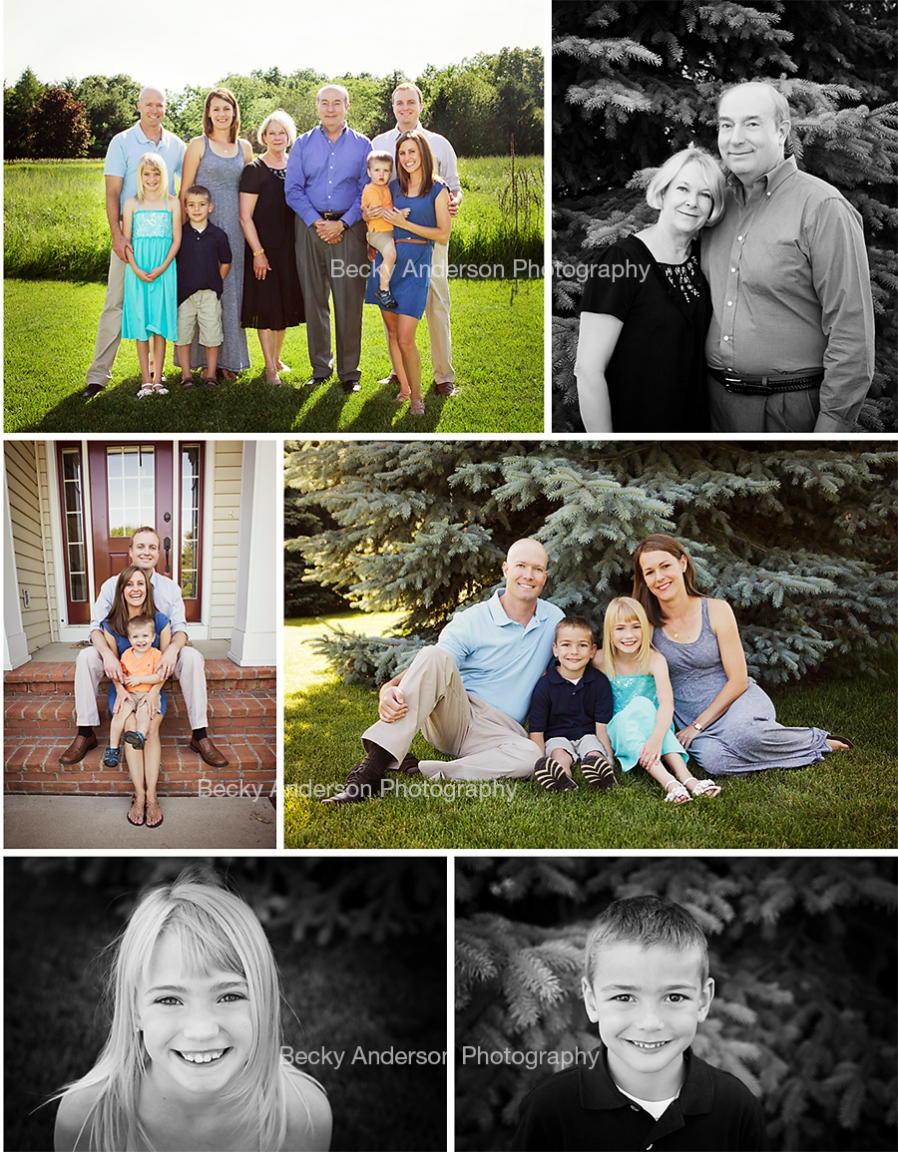 Extended family Session in Portage, Michigan