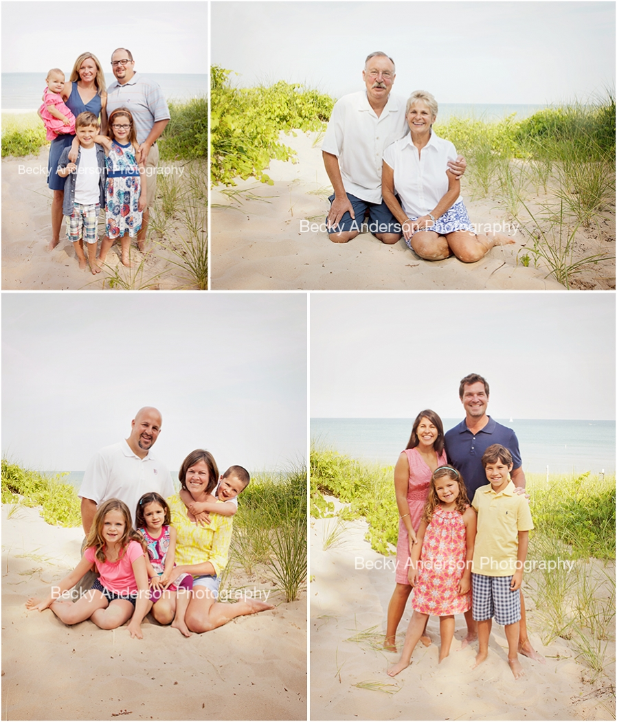 Beach Family Portraits in South Haven