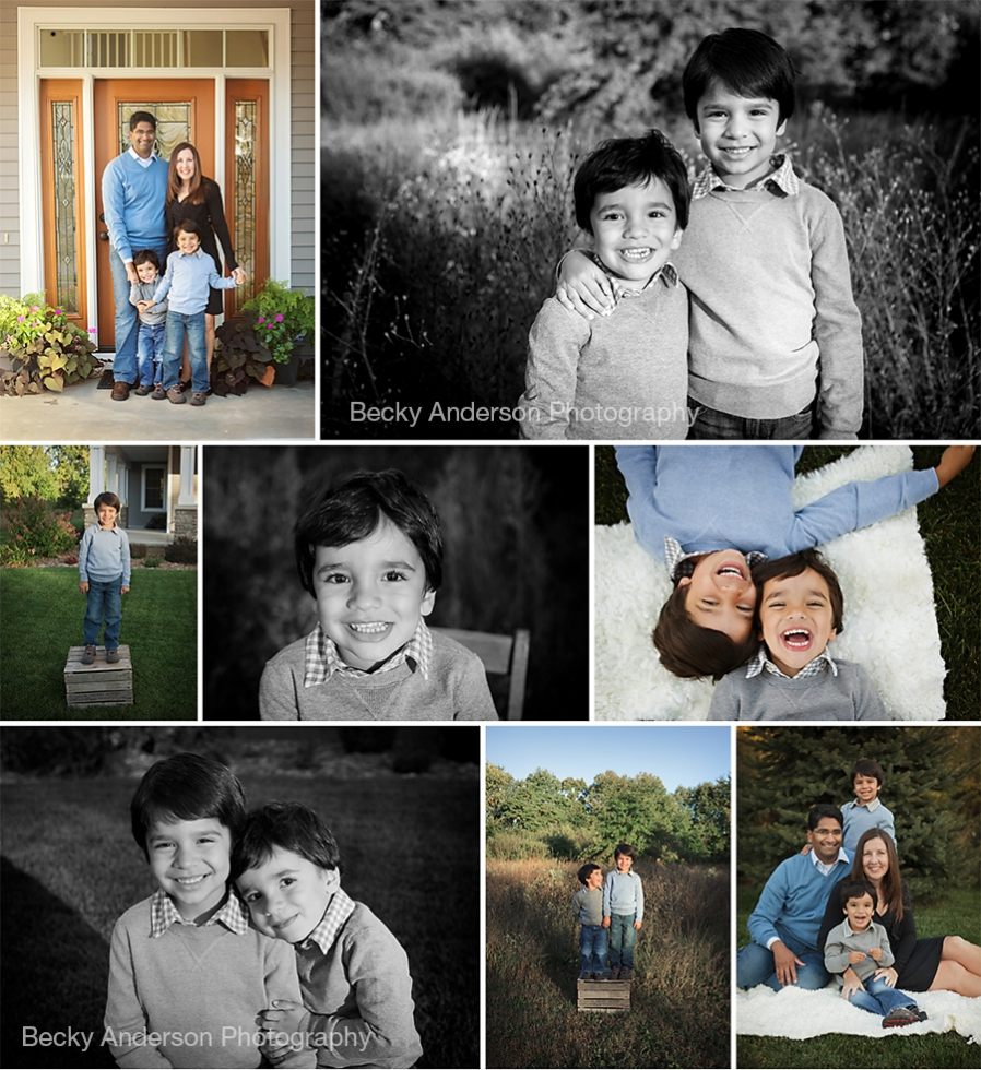 Laughing fun family portraits