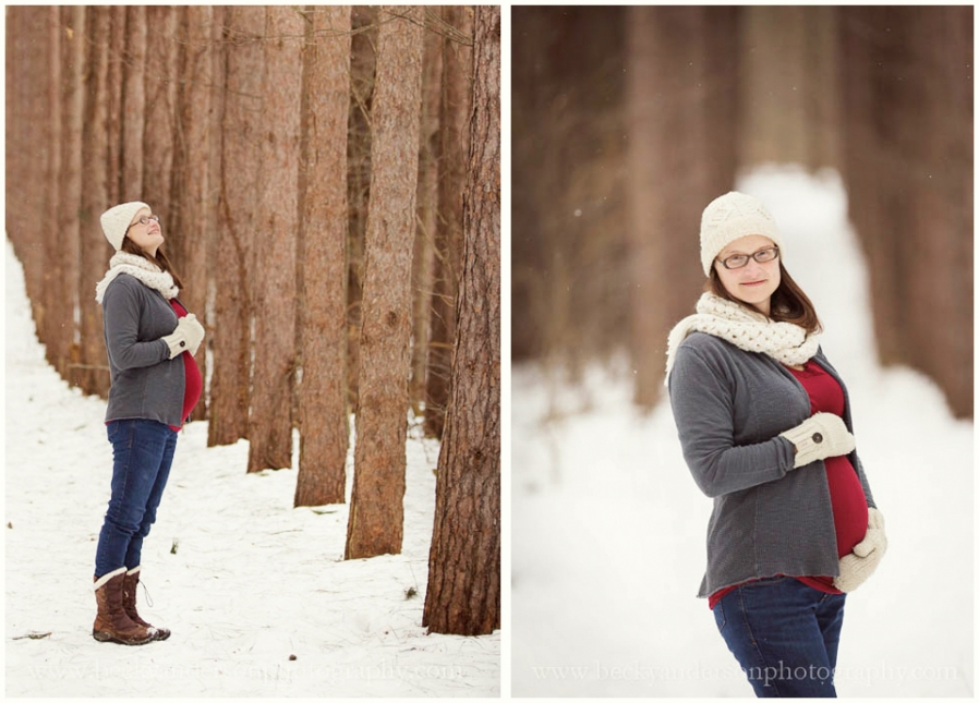 Becky Anderson Photography winter maternity