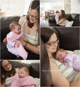 Natural real newborn portraits