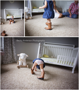 beautiful toddler girl in cowboy boots