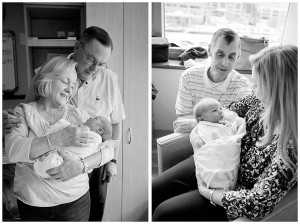 grandparents meeting newborn in bronson hospital