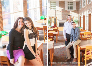 Mother and daughter and father and son combined family photography